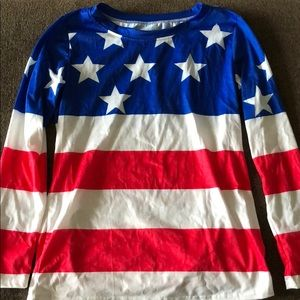 Tops - American flag long sleeve